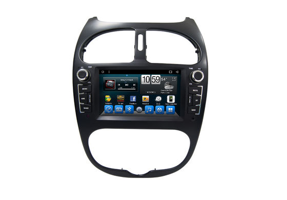 Android Car FM AM Radio Receiver Gps Navigation System for Peugeot 206