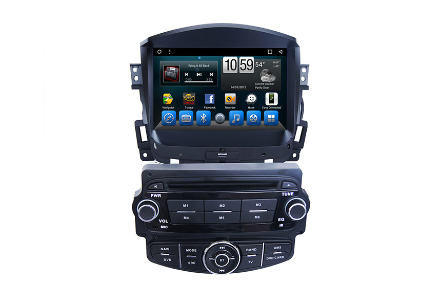 Bluetooth Chevrolet GPS Navigation System for Cruze , Gps Android Car DVD Player USB 3G 4G